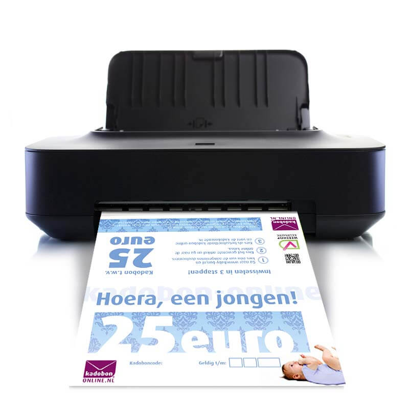 kraamcadeau jongen direct printen
