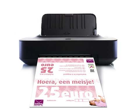 kraamcadeau meisje direct printen