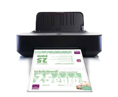 zwangerschapscadeau direct printen