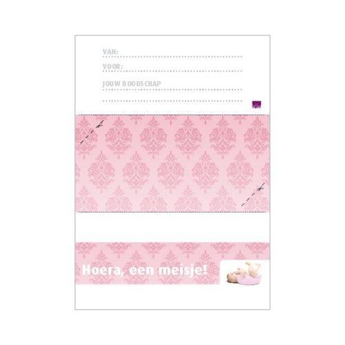 geboorte meisje printbare envelop